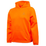Men's Blaze color hunting knit jersey hoodie.