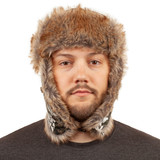 Thinsulate Insulated Hunting Hat - Lined ear flaps can be secured up or down.