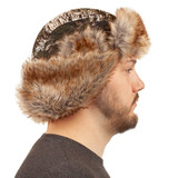 Tarnen® Hunthing Hat - Ear flaps secured up.