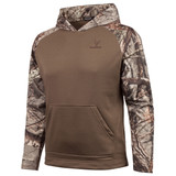 Men's Ash Brown and Hidd'n Camo color Knit Jersey Lifestyle Hoodie.