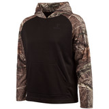 Men's Black and Hidd'n Camo color Knit Jersey Lifestyle Hoodie.