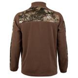 Camo Fleece 1/4 Zip - Kangaroo style front pocket.