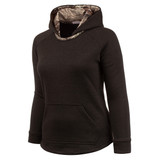 Women's Heather Gray and Hidd'n Camo color Knit Jersey Lifestyle Hoodie.