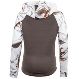 Youth's Camo Hoodie - Large front pocket.