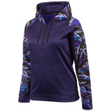 Women's Heather Violet and Ultraviolet color Performance Fleece Lifestyle Hoodie.