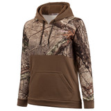 Women's Ash Brown and Hidd'n Camo color Knit Jersey Lifestyle Hoodie.