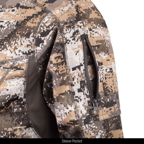 Men's Mid Weight ½ Zip Performance Fleece Hunting Pullover in Disruption™