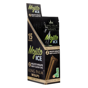 King Palm 2 Mojito Ice Flavored Rolling Wraps (Display)