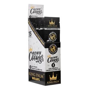 King Palm 2 Crown Cookies Flavored Rolling Wraps (Display)