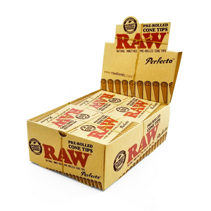 RAW Perfecto Pre-Rolled Cone Tips (Display) - 21 Tips