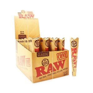RAW Classic 1¼ Pre-Rolled Cones (Display)
