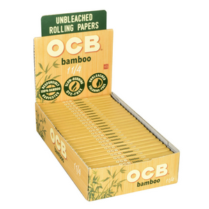 OCB Bamboo Rolling Papers (Display) - 1¼