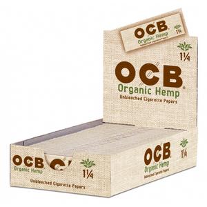 OCB Organic Hemp Rolling Papers (Display) - 1¼