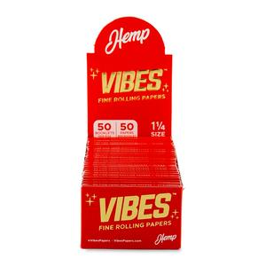 Vibes 1¼ Rolling Papers (Display) - Hemp