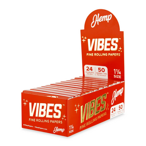 Vibes 1¼ Rolling Papers + Tips (Display) - Hemp