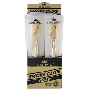 King Palm Smoke Clips (Display) - Gold