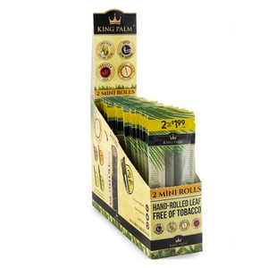 King Palm 2 Rolls Pre-Rolled Cones (Display) - Mini
