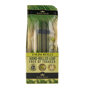 King Palm 3 Rolls Slim Size Pre-Rolled Cones (Display)