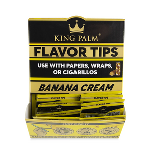 King Palm Flavored Rolling Tips (Display) - Banana Cream