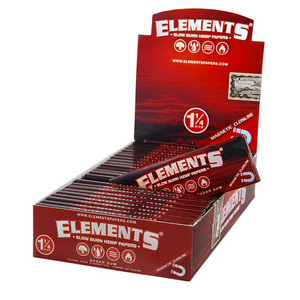 Elements Red Rolling Papers (Display) - Size 1¼