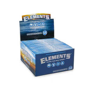 Elements Connoisseur King Size Slim Rolling Papers (Display)