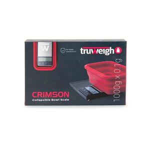 Truweigh Crimson Collapsible Bowl Scale  (Single Unit) - 1000g