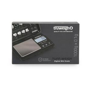 Truweigh Tuff-Weigh Digital Mini Scale (Single Unit) - Black/Black 1000g