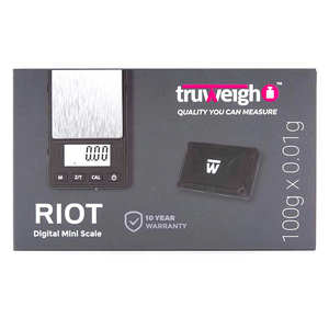 Truweigh Riot Digital Mini Scale 100g (Single Unit) - Black
