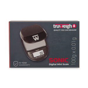Truweigh Sonic Digital Mini Scale 100g (Single Unit) - Black