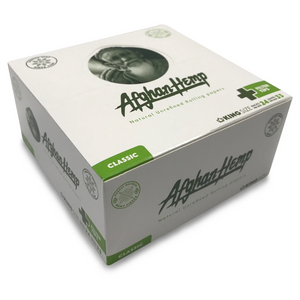 Afghan Hemp King Size Rolling Papers + Tips (Display)