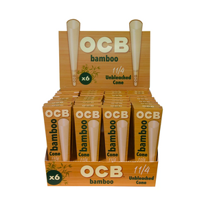 OCB Bamboo Pre-Rolled Cones (Display)- 1¼