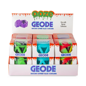 Ooze Geode Silicone & Glass Container (Display)