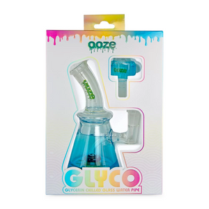 Ooze Glyco Glycerin Chilled Glass Water Pipe (Single Unit) - Aqua Teal