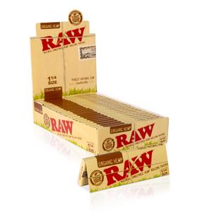 RAW Organic Hemp Rolling Papers (Display) - 1¼