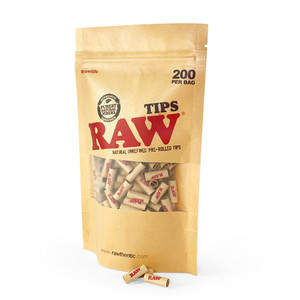 RAW Pre-Rolled Tips Bag (Single Unit)