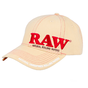 RAW Baseball Snapback Tan Adjustable Poker Hat (Single Unit)