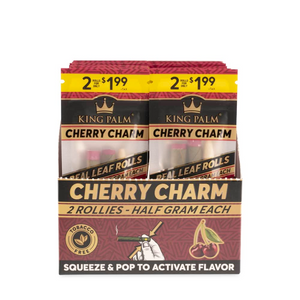 King Palm 2 Rollie Size Flavored Pre-Rolled Cones (Display) - Cherry Charm