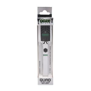 Ooze 500mAh Quad Vape Pen Battery w/ USB Charger (Single Unit) - Cosmic Chrome