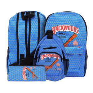 BK Design Backpack Bag Set (Single Unit) - Honeycomb Blue