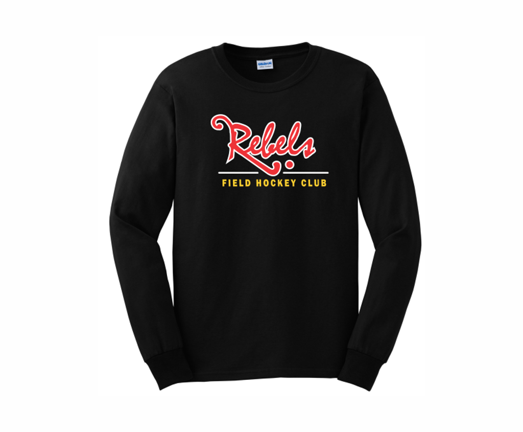 Rebels FH Cotton Tee, Black