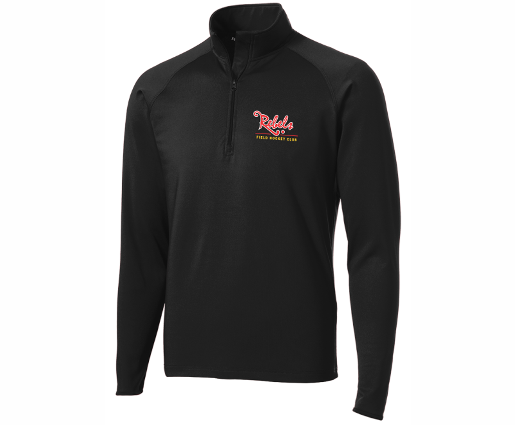 Rebels FH 1/4-Zip PolyStretch Pullover, Black