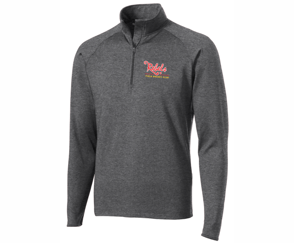 Rebels FH 1/4-Zip PolyStretch Pullover, Heather Gray