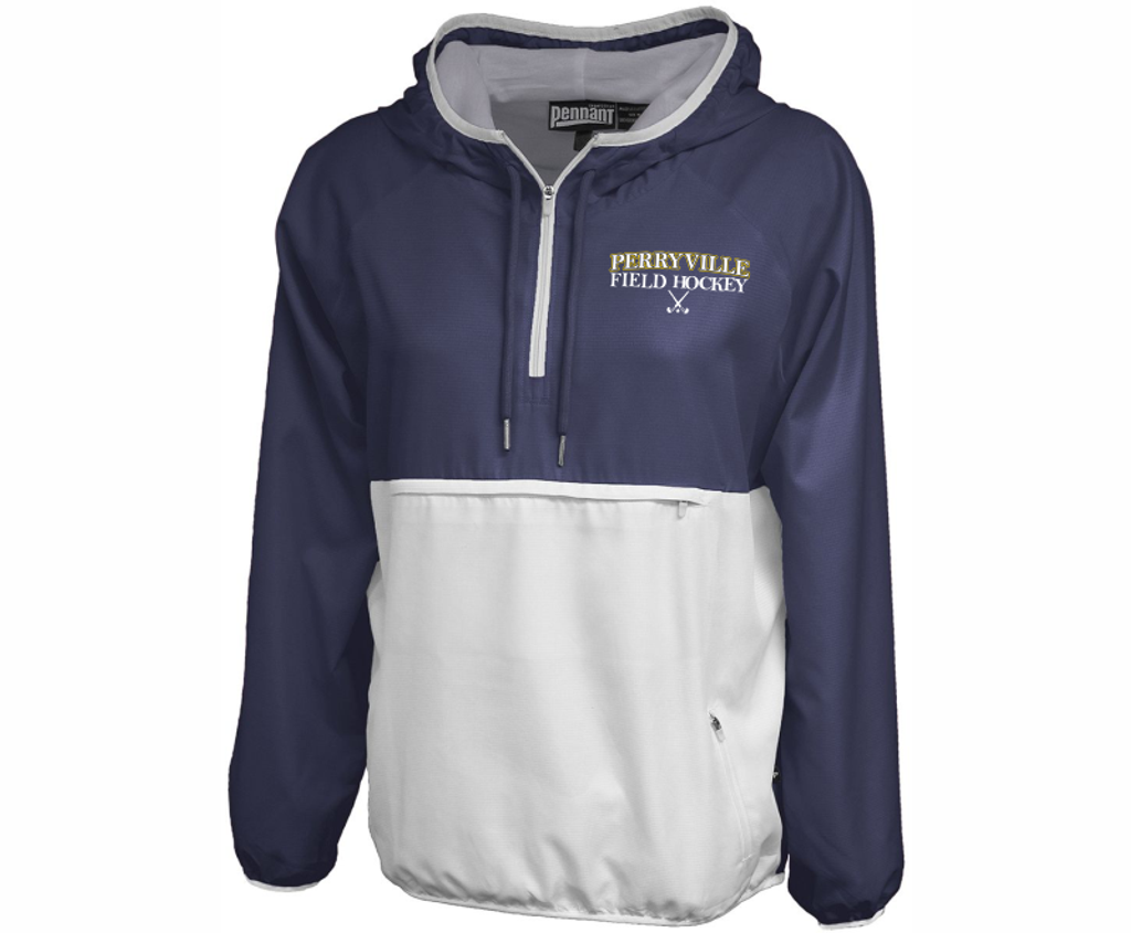 Perryville Field Hockey Ladies-Cut Anorak, Navy