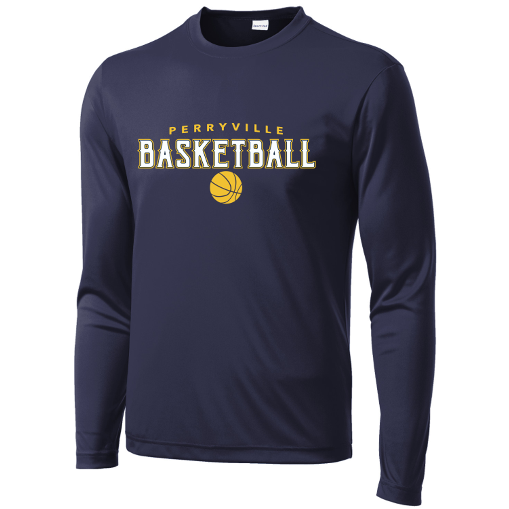 Perryville MS Basketball Long Sleeve Performance Tee