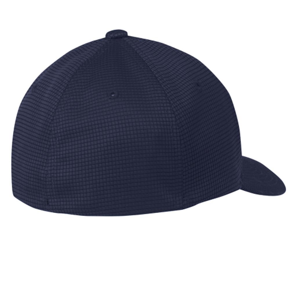 TMI Grid-Texture FlexFit Hat, Navy