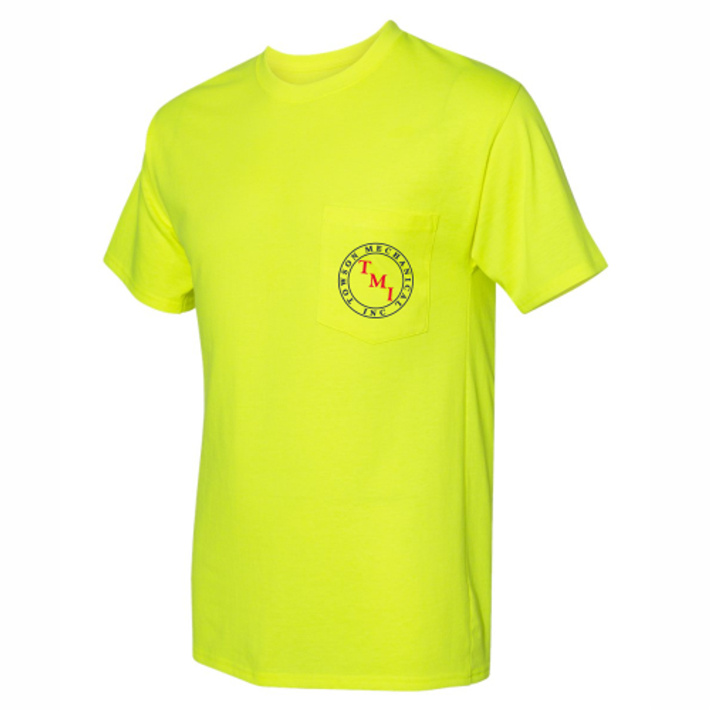 TMI Pocketed Tee, Safety Green