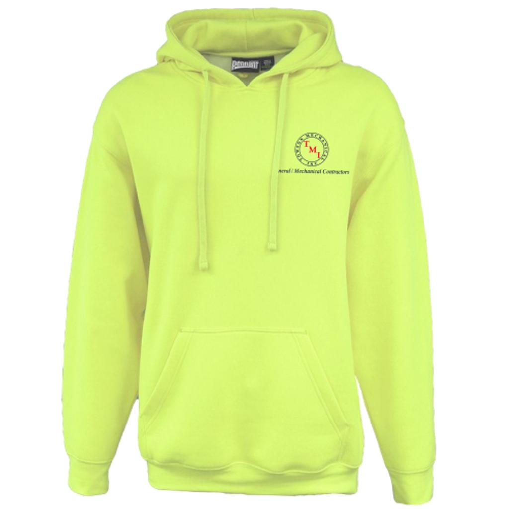 TMI Hooded Sweatshirt, Safety Green