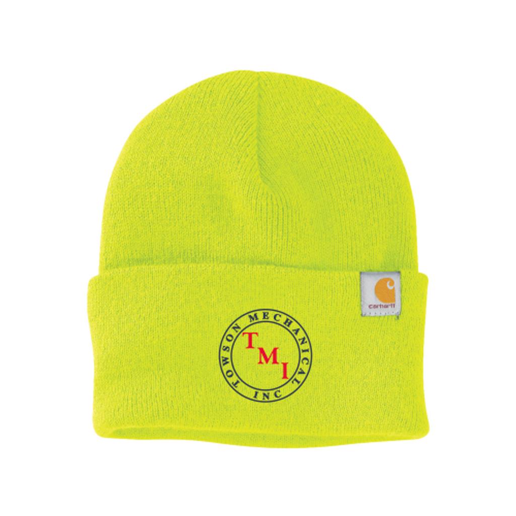 TMI Carhartt Watch Cap, Safety Green