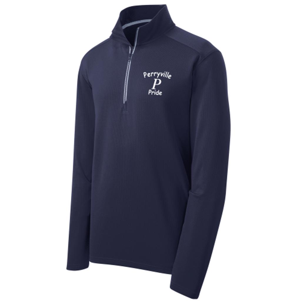 Perryville MS Textured 1/4-Zip Pullover