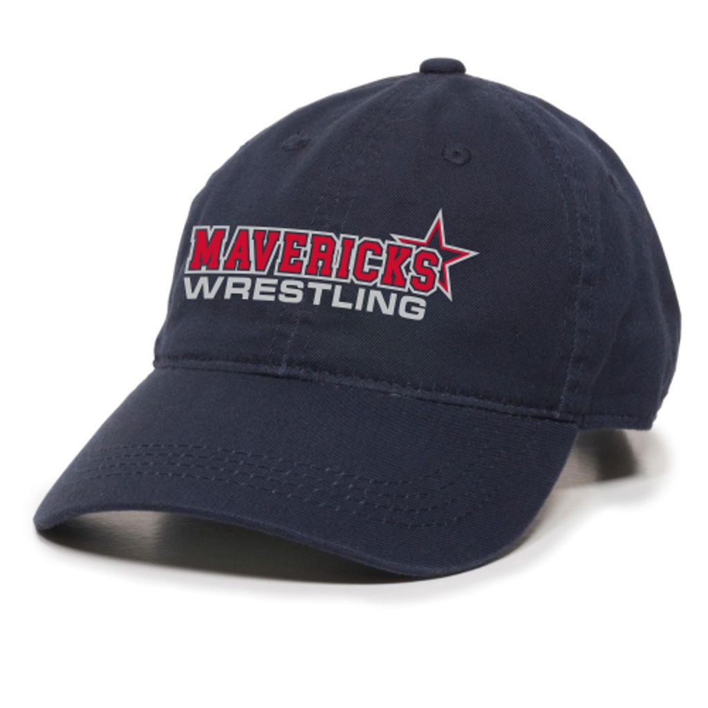 Mavericks Wrestling Adjustable Twill Hat, Navy
